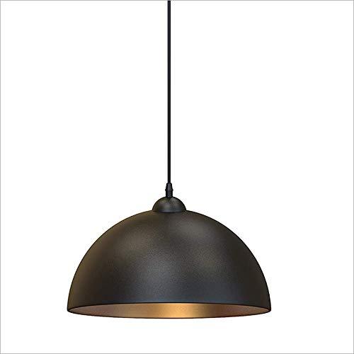 Lighfd Schaduw van de lamp Vintage Style Kitchen hanglamp Retro Light for Living & Dining Room Bedroom Pendant Lamp Industrial Vintage Design Montage Black & Gold Metal