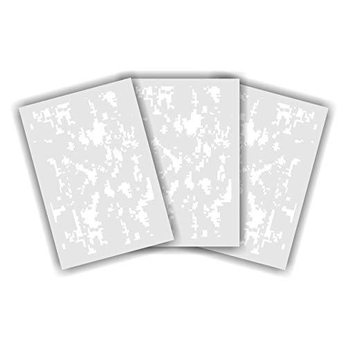Redleg Camo DIG3 14' Digital camo 3 Piece Stencil kit