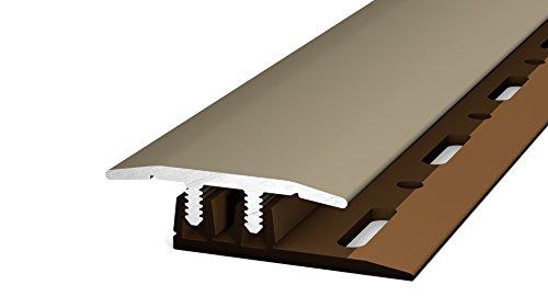Prinz Profi-Design Übergangsprofil 322 -Für Aufbauhöhen von 4,0 -7,5 mm Edelstahl matt 270cm 27 mm
