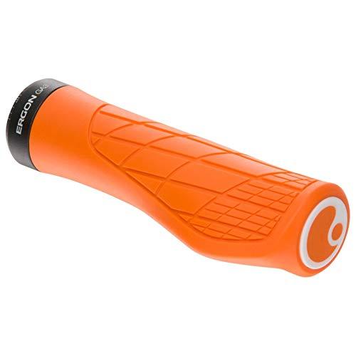 Ergon – GA3 Fahrradgriff   Ergonomisch mit Mini-Wing   MTB, All Mountain, Trail   Regular   Large   Juicy Orange