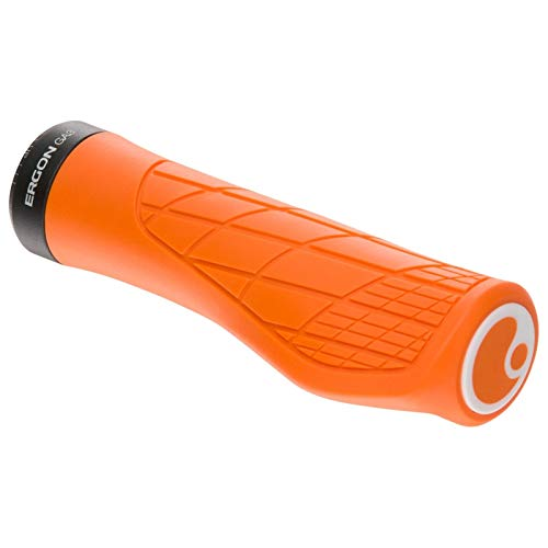 Ergon - GA3 Ergonomic Lock-on Bicycle Handlebar Grips | Standard Compatibility | for All Mountain, XC, Trail, Touring Bikes Bikes | Small | Juicy Orange
