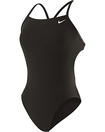 Nike Solid Poly Cut-Out Tank Swimsuit Black 26