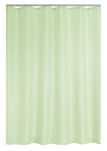 RIDDER Duschvorhang Textil Madison inkl. Ringe Pastell-grün 180x200 cm