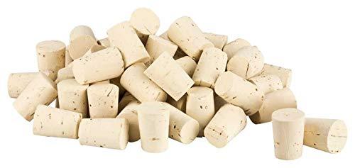 100 Spitzkorken | Länge = 27 mm, ⌀ = 17-20 mm (Medizinkorken, Laborkorken, Spitze Korken 27x20/17)