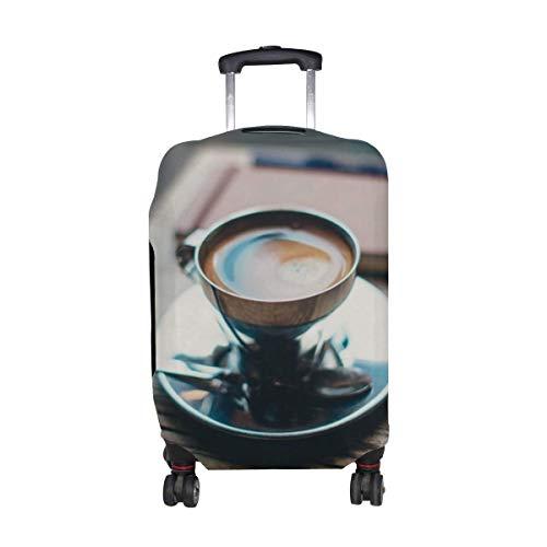 Tasse Kaffee Getränk Muster drucken Reisegepäckschutz Gepäck Kofferbezug Passend für 18-21 Zoll Gepäck LGC-001