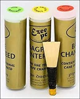 Pipedreams Ezeedrone Bagpipe Chanter Reed (Medium Resistance), Suitable with Ezeedrone Drone Reeds for Scottish Highland Bagpipes. Price is for 1 reed at Selected Strength