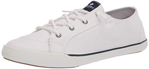 Sperry womens Lounge Ltt Sneaker, White, 8 US