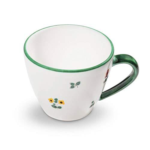 GMUNDNER KERAMIK Kaffeetasse Gourmet Füllmenge : 0.2 Liter Streublume Geschirr, handgemacht in Österreich