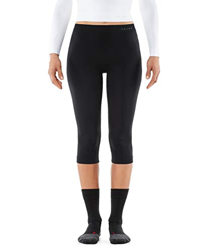 FALKE Damen Tights, Leggings 3/4 aus Funktionsfaser, Underwear Warm Legging, 1 er Pack, Schwarz (Black 3000), Größe: M