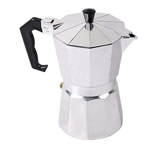 Cafetera Italiana Inducción Cafetera espressos Aluminio,Plata,150 ML
