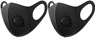 2 stuks zwart OV-Mask | Wasbaar Mondkapje | Openbaar Vervoer | gezicht modificatie -wasbare mondkapje-mondmasker met ademf...