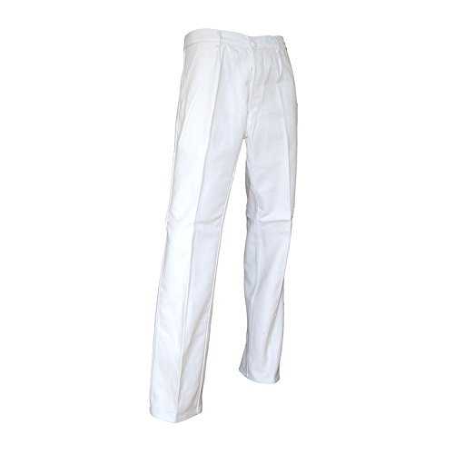Pantalon de peintre blanc braguette à boutons LMA Pinceau 100144