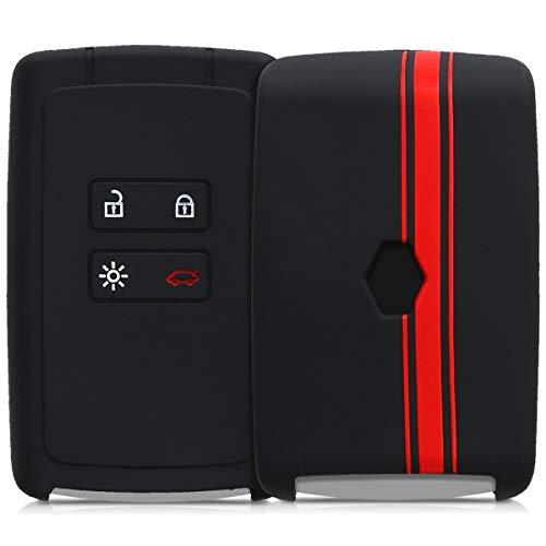 Kwmobile Funda Compatible Con Renault Llave De Coche Smart Key De 4 Botones (Solo Keyless Go) - Carcasa Protectora Suave De Silicona - Rally