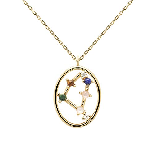 P D Paola Ladies' Necklace Star Sign Capricorn Gold Plated Silver CO01-353-U
