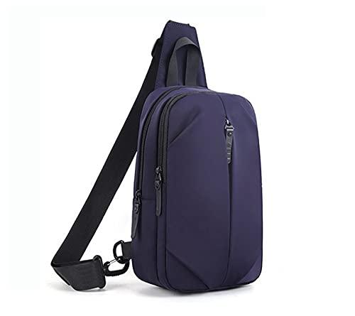 YQDHHD Bolso de Hombro USB para Hombre, multifunción, Impermeable, Bandolera, Bandolera, Bandolera, Bandolera, para Acampar, Viaje al Aire Libre,Azul
