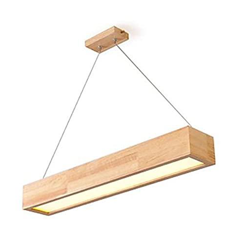 Intelligente Lampadario LED Soffitto, Moderna Legno Rettangolo Controllo Vocale Lampada a...