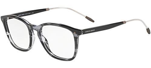 Giorgio Armani 0AR7171 Monturas de gafas, Striped Grey, 51 para Hombre