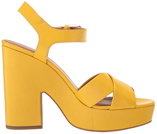adorable yellow platform sandals