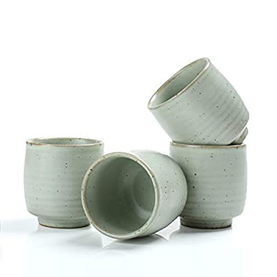 TEANAGOO Chinese Tea Cup For W08, 5.8 oz, Ruware, Lt.Blue, 4 pcs/Box, TC07, Chinese Tea Cups, japanese tea cup, green tea cups japanese, Asian Tea Cups No Handles, japanese tea cups traditional