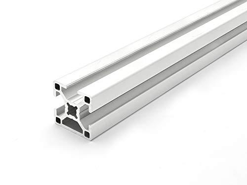 Designprofil/Aluminiumprofil 30x30 B-Typ Nut 8/1 Nut verdeckt - ZUSCHNITT bis 2000mm (11 EUR/m + 0,3 EUR pro Schnitt, min. 2,50 EUR) 190mm