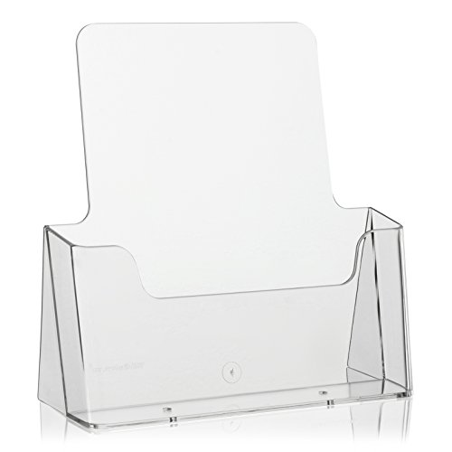 Tisch-Prospektständer Flyerständer/Prospekthalter von VITAdisplays (Transparent, DIN A4)