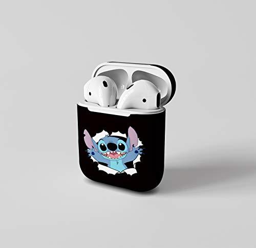 Léger Coque Étui Housse for AirPods 1&2 Antichoc avec Coque en Silicone Protecteur pour Airpods Apple 1 et 2 Convient aux Filles garçons Bonjour Content