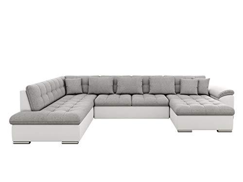 Mirjan24 Eckcouch Ecksofa Niko! Design Sofa Couch! mit Schlaffunktion! U-Sofa Große Farbauswahl! Wohnlandschaft! (Ecksofa Rechts, Soft 017 + Bristol 2460)
