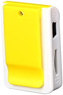 Zmond -HiFi Mini Clip Metal USB MP3 Player Support Micro SD TF Card Music Media [ Yellow ]