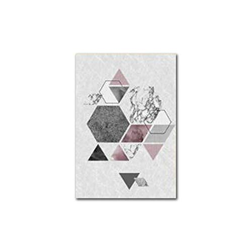 Knncch Motif Géométrique Minimaliste, Peinture Sur Toile, Décoration De La Maison Moderne, Salon, Mur, Photo D'Art,40X60Cm