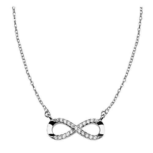 SOFIA MILANI - Collar para Mujeres en Plata de Ley 925 - con Circonitas - Colgante Infinito - 50135