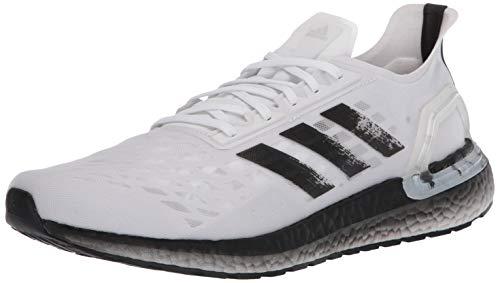 adidas Men s Ultraboost Personal Best Running Shoe, White Black Dark Grey, 7.5 M US