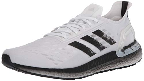 adidas Men's Ultraboost Personal Best Running Shoe, White/Black/Dark Grey, 10 M US