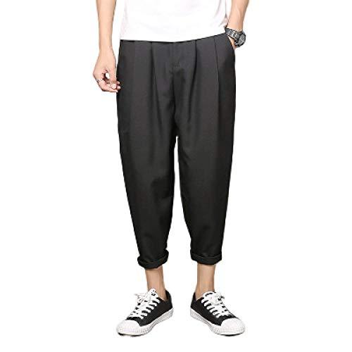 Einfarbige Haremshose für Herren Tapered Fashion Dünnschliff Komfortable Casual Trend Loose Plus Size Neun-Punkt-Hose 3XL