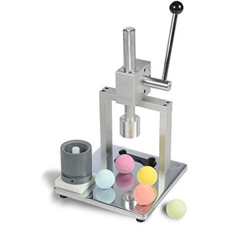 Milliard Bath Bomb Press Stainless Steel - Manual for DIY and Commercial Use, 2 Aluminum Molds Included for Bath Fizzies (Assembly Required)