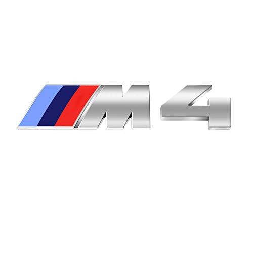 Dodoro M Trunk Decal emblema pegatinas Tri Color trasero M Sport Badge M Logo para BMW All Sport 1,2,3,4,5,6,X1,X2,X3,X4,X5,X6 M Series (M4, Plata)