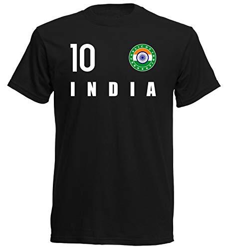 Nation Indien T-Shirt Trikot Wappen FH 10 SC (L)