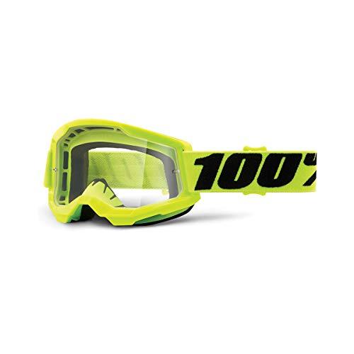 100 Percent STRATA 2 Goggle Yellow-Clear Lens, Adultos Unisex, Amarillo, ESTANDAR