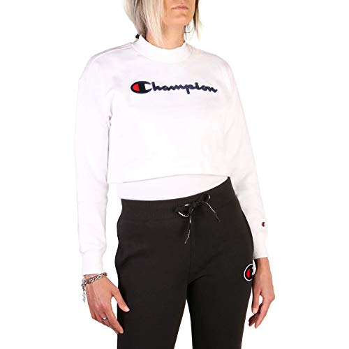 Champion Sudadera Mujer High Neck Sweatshirt Blanca