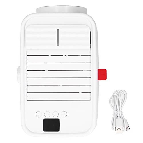 Crisis Enfriador de Aire, Ventilador de Aire Acondicionado de Carga USB de 350 ml con sincronización automática Inteligente para el hogar para el Dormitorio para la Oficina