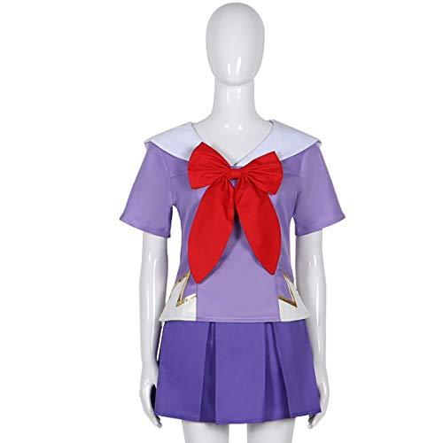 HOLRAN Future Diary Gasai Yuno Cosplay Costume Purple Uniform Set (X-Large)