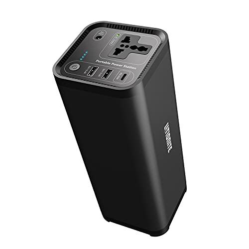 Litionite Hurakan 200W / 46.400mAh Power Bank/Batería Externa/Mini Generador de energía portátil - 1x AC toma de corriente - 2x USB - 1x Type-C - Cargador para Smartphone/Notebook/Ordenador/CPAP/Drone