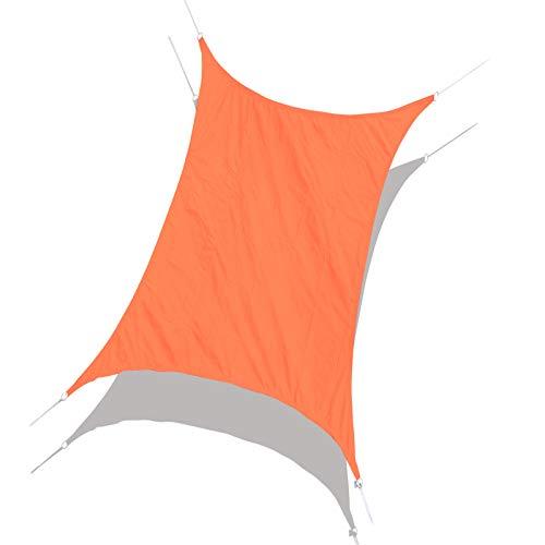 Laxllent Toldo Vela de Sombra,Protección Rayos UV,Impermeable y Resistente,Toldo para Jardín Balcón Terraza Coche y BBQ,con Cuerda Libre,PES,Rectangular,3x4m,Naranja