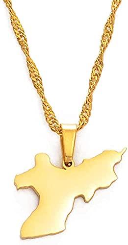 BEISUOSIBYW Co.,Ltd Collares Union Island San Vicente y Las Granadinas Collares con Colgante de Cadena para Mujeres Niñas Joyas 60 cm Regalos
