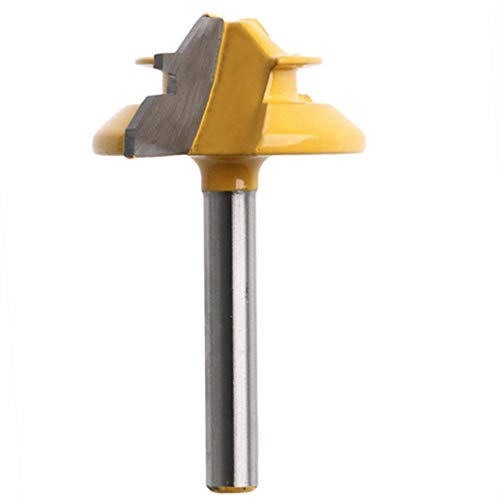 Zwyjd 1/2' Shank Router Bit 45 grados de unión adhesiva Lock inglete fresadora de madera fresadora 1 3/8' Diamete Woodworking Tools Set