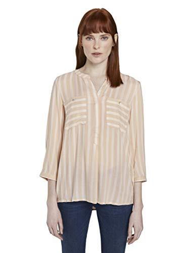 TOM TAILOR Nautic Style Bluse, Damen, Beige 36 EU