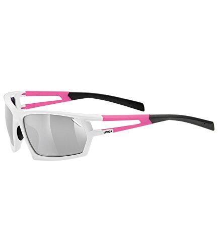 Uvex Unisex Erwachsene Sportbrille Sportstyle 704, White/Pink, One Size