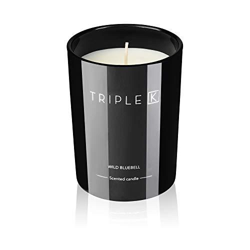 TRIPLE K Vela aromática 100% de cera de soja – con 40 horas de duración de combustión – 250 g – Wild Bluebell – perfecto para el hogar y como regalo