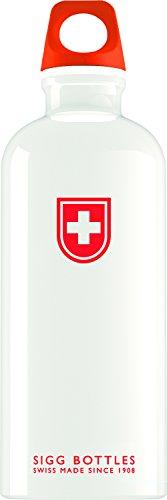 Sigg Trinkflasche Swiss Shield, Weiß, 600 ml