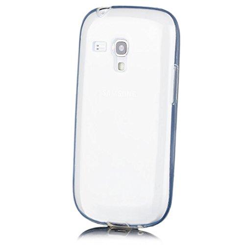 iCues | Samsung Galaxy S3 MINI | trasparente TPU Chiaro | protettore foglio trasparente della cassa della pelle del gel Sereno Sereno silico [Screen protector Compreso] Custodia Cover Case Tasca Borsa