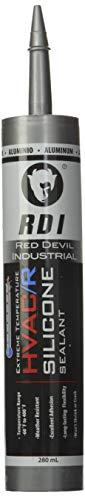 Red Devil 089650 89650 (Aluminum), 280 ml, 1 Pack Extreme Temperature HVAC/R Silicone Sealant, 1-Pack